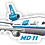 Thumbnail: Adesivo Silhueta McDonnell Douglas MD-11 VASP