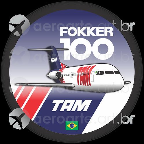 Adesivo Bolacha Fokker 100 TAM