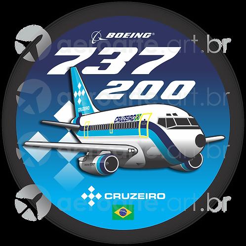 Adesivo Bolacha Boeing 737-200 Cruzeiro