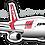 Thumbnail: Adesivo Silhueta Airbus A320 IAE TAM