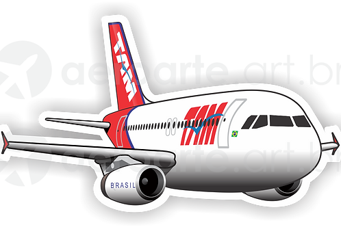 Adesivo Silhueta Airbus A320 IAE TAM