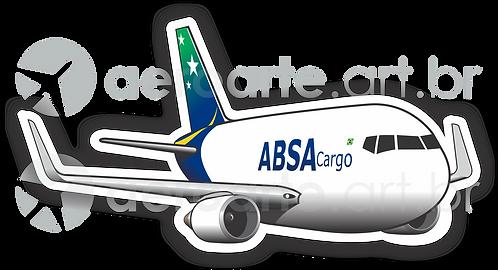 Adesivo Silhueta Boeing 767-300F ABSA