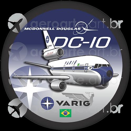 Adesivo Bolacha Douglas DC-10 VARIG