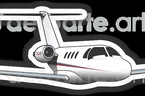 Adesivo Silhueta Cessna Citation CJ1