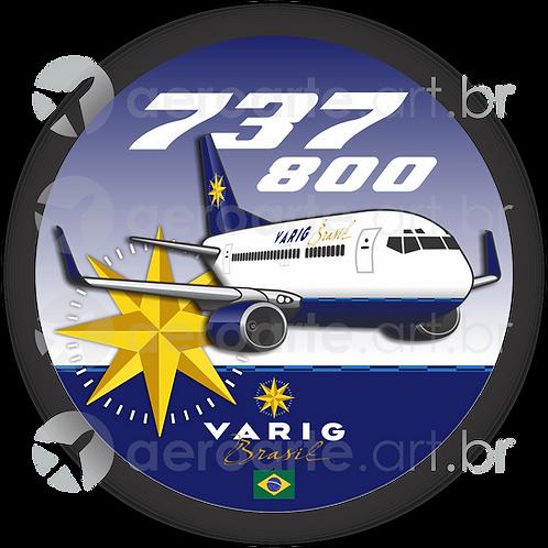 Adesivo Bolacha Boeing 737-800 VARIG