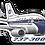 Thumbnail: Adesivo Silhueta Boeing 737-300 VARIG 1ª Pintura