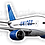Thumbnail: Adesivo Silhueta Boeing 777 United New colors