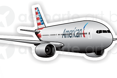 Adesivo Silhueta Boeing 777-300ER American Airlines