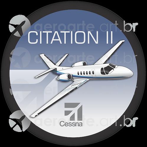 Adesivo Bolacha Cessna Citation II