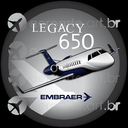Adesivo Bolacha Embraer Legacy 650