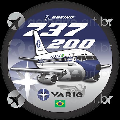 Adesivo Bolacha Boeing 737-200 VARIG