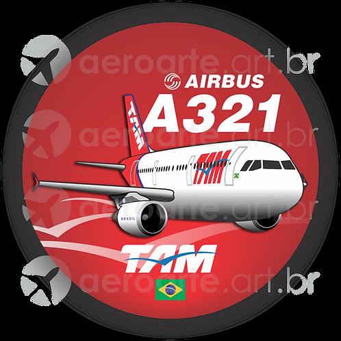 Adesivo Bolacha Airbus A321 CFM TAM