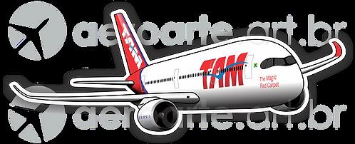 Adesivo Silhueta Airbus A350 TAM