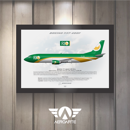 Pôster Perfil Boeing 737-400F RIO