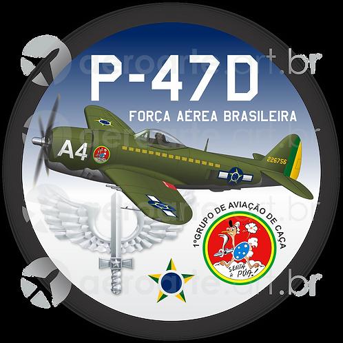 Adesivo Bolacha P-47D FAB
