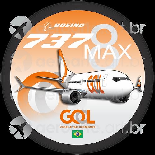 Adesivo Bolacha Boeing 737MAX 8 GOL