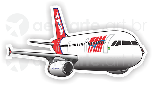 Adesivo Silhueta Airbus A321 IAE TAM