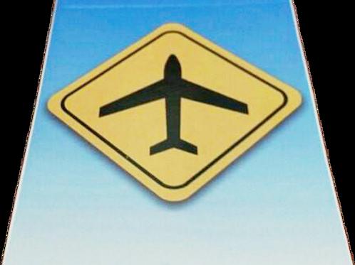Bloco de Notas Placa Avião