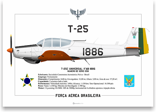 Pôster Perfil T-25C FAB