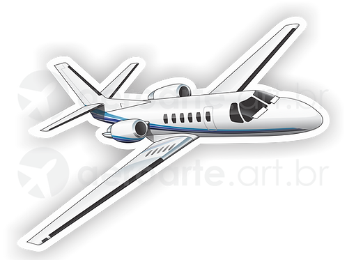 Adesivo Silhueta Cessna Citation II