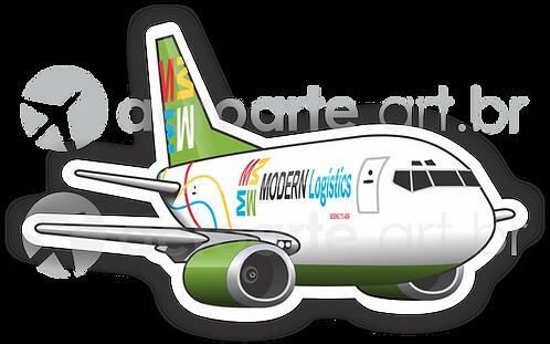 Adesivo Silhueta Boeing 737-400F Modern