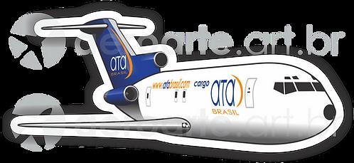 Adesivo Silhueta Boeing 727-200F ATA Brasil