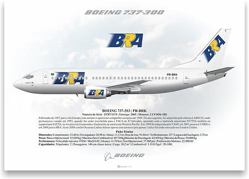 Pôster Perfil Boeing 737-300 BRA