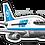 Thumbnail: Adesivo Silhueta Boeing 737-200 VASP