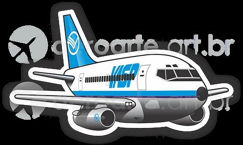 Adesivo Silhueta Boeing 737-200 VASP