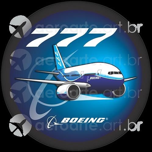 Adesivo Bolacha Boeing 777