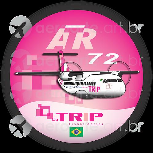 Adesivo Bolacha ATR 72 TRIP Rosa