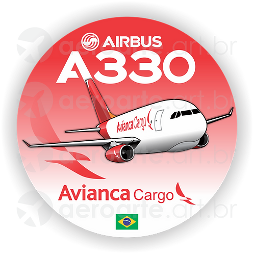 Adesivo Bolacha Airbus A330F Avianca Cargo