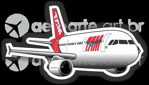 Adesivo Silhueta Airbus A321 CFM TAM