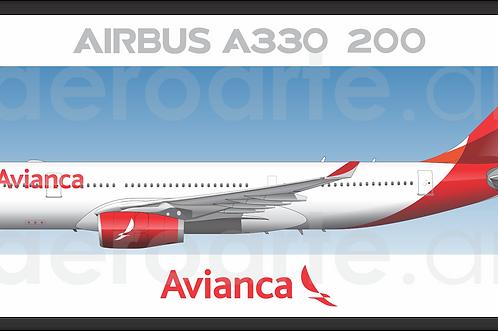 Adesivo Perfil Airbus A330 Avianca