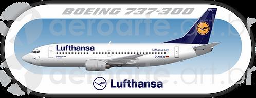 Adesivo Perfil Boeing 737-300 LUFTHANSA