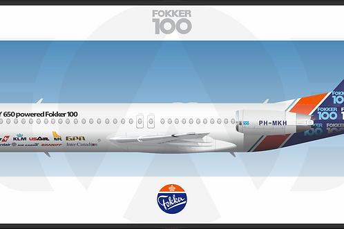 Adesivo Perfil FOKKER 100 Pintura Fokker