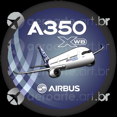 Adesivo Bolacha Airbus A350