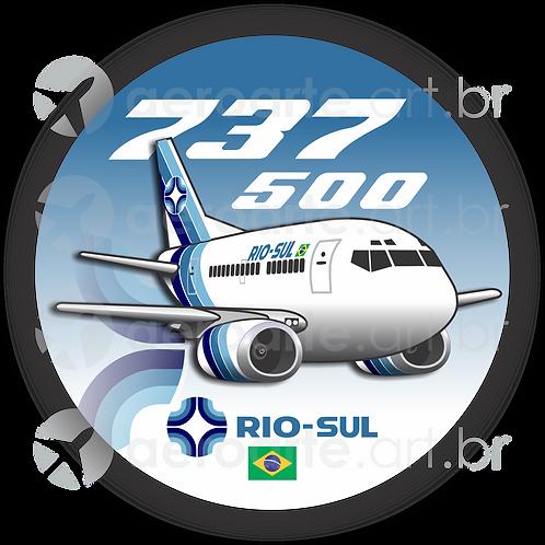 Adesivo Bolacha Boeing 737-500 Rio Sul