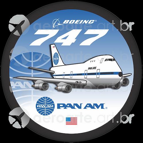 Adesivo Bolacha Boeing 747-100 PanAm