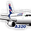 Thumbnail: Adesivo Silhueta Airbus A320 LATAM