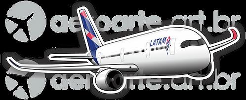 Adesivo Silhueta Airbus A350 LATAM