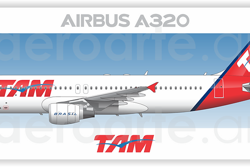 Adesivo Perfil Airbus A320 CFM TAM