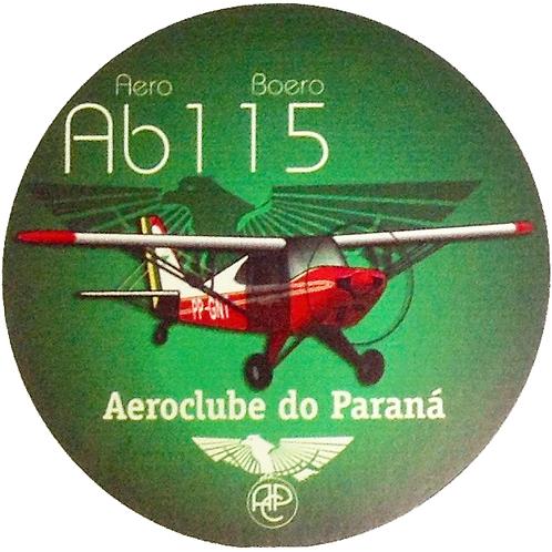 Adesivo Bolacha Aero Boero AB-115 Aeroclube do Paraná