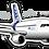 Thumbnail: Adesivo Silhueta Airbus A320 CFM