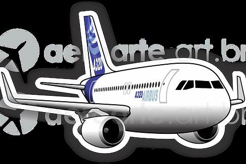 Adesivo Silhueta Airbus A320 CFM