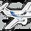 Thumbnail: Adesivo Silhueta EMB-121 XINGU