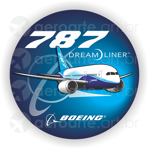 Adesivo Bolacha Boeing 787