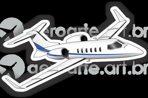 Adesivo Silhueta Learjet 31A