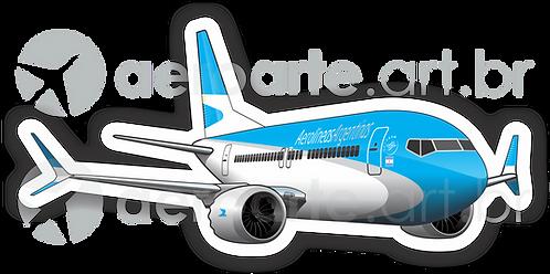 Adesivo Silhueta Boeing 737MAX 8 Aerolíneas Argentinas