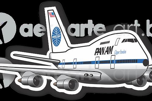 Adesivo Silhueta Boeing 747SP PanAm